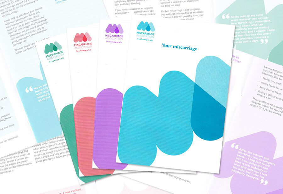 Selection of Miscarriage Association support leaflets