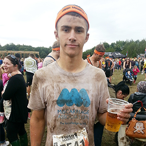 Taking part in Tough Mudder to raise funds for the Miscarriage Association