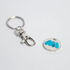 Miscarriage Association enamel trolley key-ring