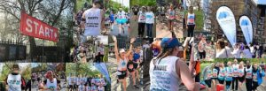 Miscarriage Association supporters taking part in running events.