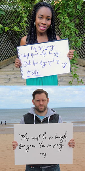 Images from our #SimplySay campaign
